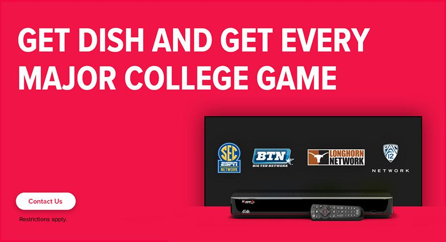 Sports TV Package - College Sports - Madison, Maine - K Tronics - DISH Authorized Retailer